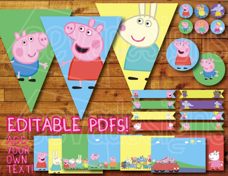 a birthday pig decorations dessert pk party c supplies shop open canada decor and peppa off index plates
