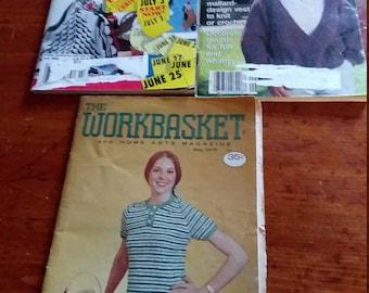 Vintage Workbasket instruction magazines