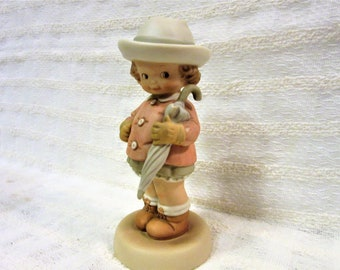 Memories Of Yesterday Figurine 1991 Vintage Waiting For The Sunshine Porcelain blm