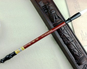 Free Shipping 4.4x0.95x29cm Goat Weasel Hair Combined Brush / YPJH - Synthetic Red Wood Handle - Oriental Calligraphy Painting - 0024M