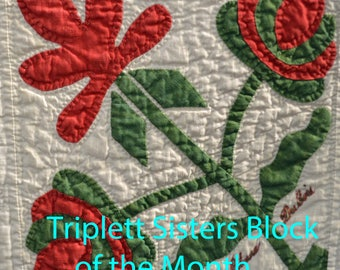 Triplett Sisters BOM: Lily with Flat Leaves Pattern