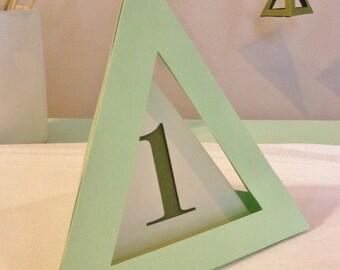 Geometric Table Numbers