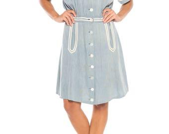 1930s Sailor Dress Size: 6