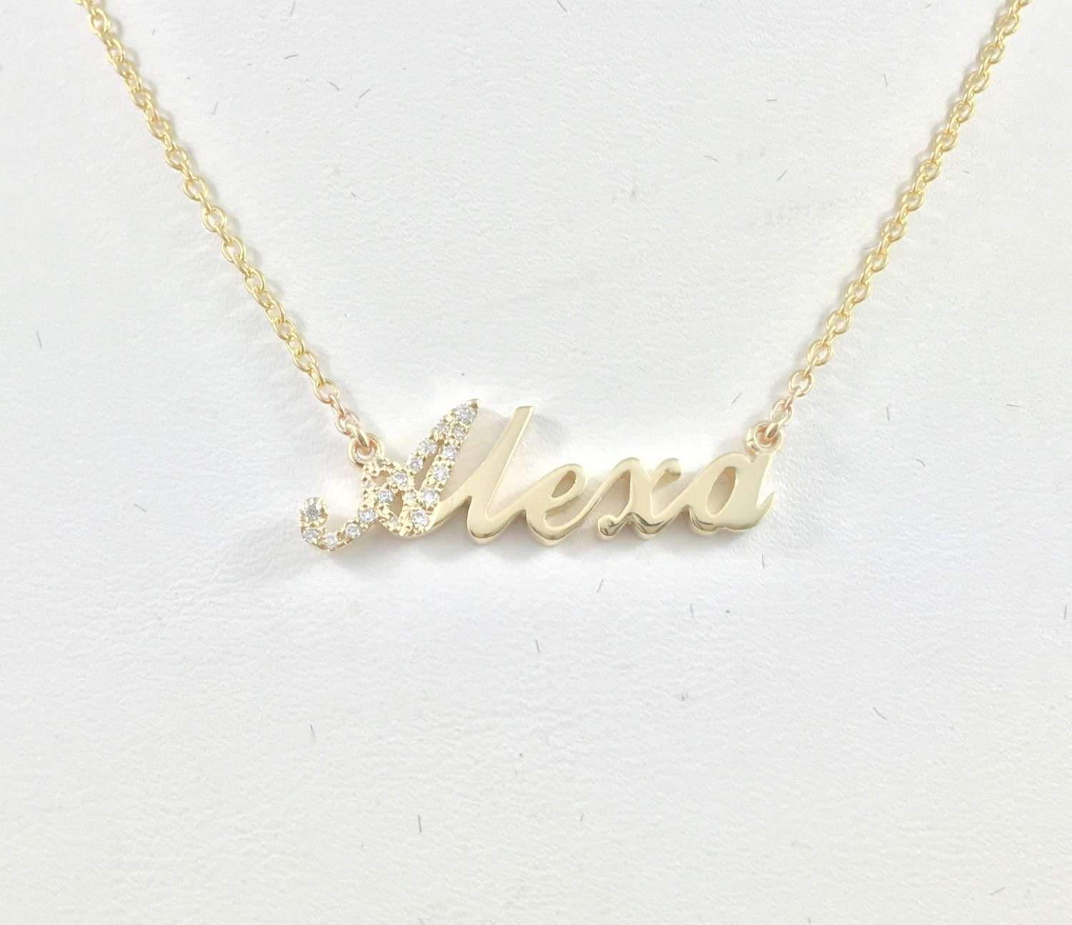 necklace bar ivy and roman sterling cursive personalized alison numeral at wid monogram necklaces remembered category name things silver