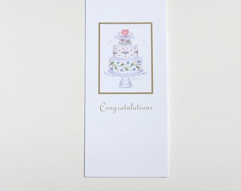 Wedding Card Money Holder Gift Card Holder Wedding Cake Congratulations Paper Card by Audrey Ascenzo