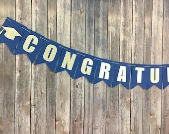 Congratulations Banner, Congrats Banner, Graduation, Celebration