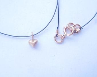 Amor en el Aire collar de oro rosado solido 18K