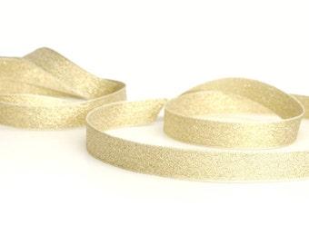 Gift Wrap Glitter Gold and Silver Ribbon for Crafting, Presents and Finishing Touches