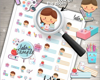60%OFF - School Stickers, Printable Planner Stickers, Planner Stickers, Kawaii Sticker, Back to School, Planner Accessories, Study
