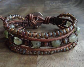 Bohemian bracelet boho chic bracelet womens jewelry gift for her gemstone bracelet beaded boho bracelet rustic bracelet earthy bracelet