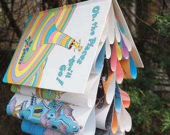 Oh the Places You'll Go-Dr. Seuss-Book Mobile-Teacher Decor-Book Themed Wedding-Baby Shower-Wedding Decor-Nursery Room-Graduation Gift