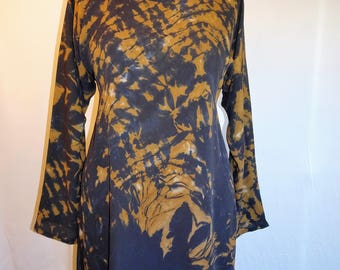 Bronze Black Shibori Tunic