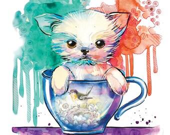 CHIHUAHUA  Watercolor painting, chihuahua print , watercolor print , chihuahua art , dog art