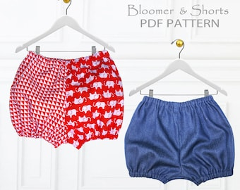 Baby Sewing Pattern pdf, Baby Diaper Cover Pattern, Nappy Cover, Baby Bloomer Pattern, Shorts Pattern, Pants Sewing Pattern, BABY BLOOMERS