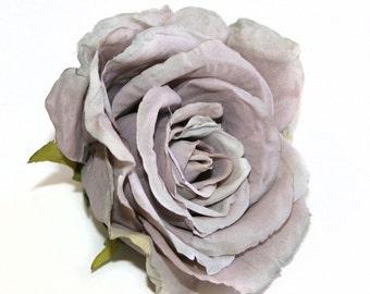 Antique Lavender Grey Calista Rose - Artificial Flowers, Silk Flowers