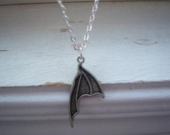 Bat Necklace - Goth - Halloween Necklace - Goth Necklace - Bat Wing Necklace - Wing Necklace - Free Gift With Purchase