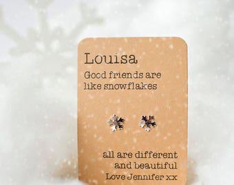 Friends are like snowflake earrings! Christmas