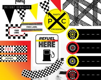 Race Car Birthday Party Printable Package