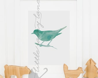 Nursery Decor - Bird Print - bird art - bird nursery decor