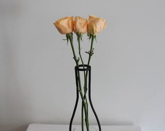 Minimalist Iron Vase - Wine Bottle