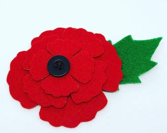 Poppy pin etsy charity donation felt poppy brooch poppy appeal pin poppy pin badge royal british legion remembrance day mightylinksfo