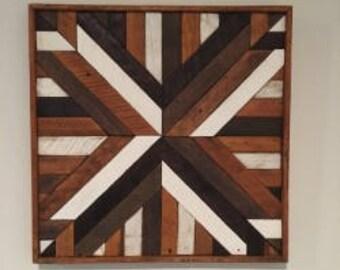 Reclaimed Wood abtract wall art