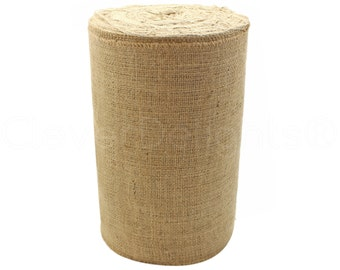 "50 Yards - 12"" Natural Burlap Roll - Industrial Grade - Unfinished Edges - Eco-Friendly Natural Jute Burlap Fabric - Tight Weave - 12 Inch"