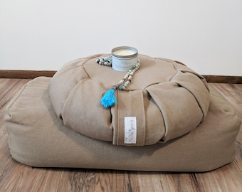 Ultimate Yoga Gift Set Includes Meditation Cushion, Yoga Bolster, Candle & Mala