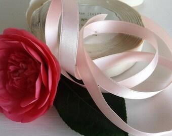 French Vintage Satin Rayon Ribbon