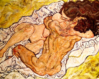 Egon Schiele The Embrace, 1917