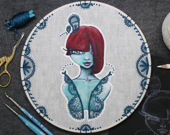 Annalee – Original embroidery art