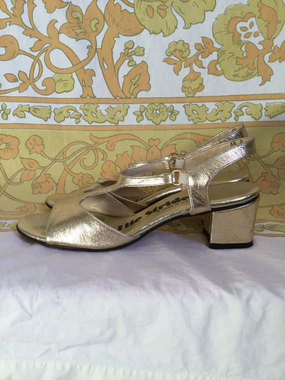 Love Gold Strap Salvage T Life Street Stride Sandals 70s SALE 6 Vintage by Metallic 5 qgRaB7