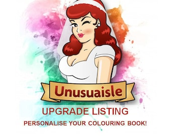UPGRADE - Personalised wedding colouring/coloring book!