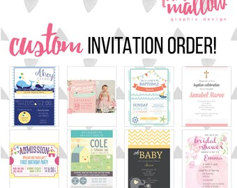 Custom designed party invitation