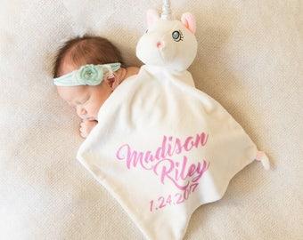 Unicorn personalized Baby Blanket / Blankie / Unicorn / New Baby Gift / Baby Blanket / Baby / Unicorn Blankie / Customized