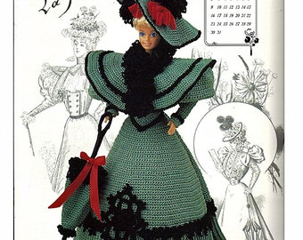 The Gibson Girl Collection of the Gay Nineties October Fashion Doll  Crochet Pattern  Annies Calendar Bed Doll Society 7710