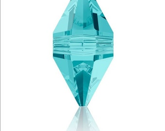 Swarovski ( 5747) double spike crystal Lilac Shadow ,Turquoise,Silver Night 2X, AB, 16x8 mm 12 pcs