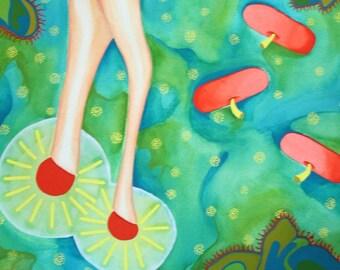 GARDEN watercolor gouache and acrylic