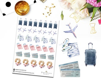 TRAVEL Planner Stickers/Traveling Stickers/Functional Deco Icons for Erin Condren Planner/Happy Planner/Horizontal/Travelers Notebook