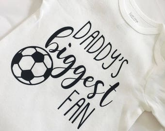 Daddy Biggest Fan. Soccer Sister. Soccer Fan. Soccer Baby. Baby Girl. Baby Boy. Soccer Outfit. Baby Girl Soccer. Baby Boy Soccer.