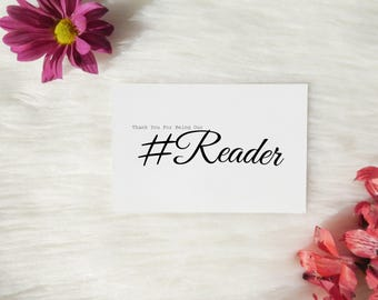 Thank You For Being Our Reader Card, Wedding Reader Thank You Card, Thank You For Reading Card, Wedding Card For Reader, Wedding Card Friend