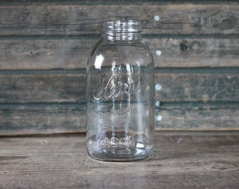 Kerr Self-Sealing half gallon Mason jar