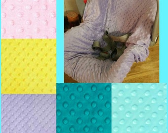 Carseat Minky Cover for Infant Carseat Pick from lots of colors