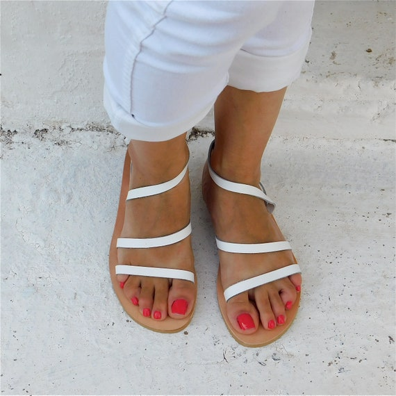 Strappy Sandals BOHO sandals Greek White Sandals Wedding Leather Sandals Comfortable Sandals Sandals sandals flats Summer d5wXn8