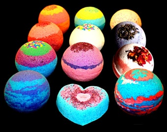 9 Bath Bombs Pack Gift Set Assorted Scent or Mix and Match! Large 4.5 ounce bombs