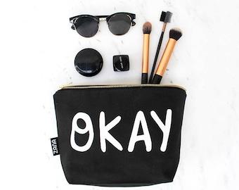 OKAY Toiletry Bag - Cosmetics Bag - Travel Bag - Pink, Yellow or Black