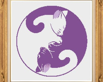 Yin Yang Cats PDF chart only for 14 only