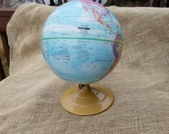 "World Scholar 9"" Replogle Globe Raised Land Features"