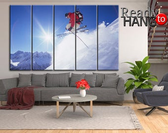 Extreme skier, Ski Art, Winter sport, Ski Wall Decor, Ski Wall Art, Skiing Wall Art, Winter sport art, Winter sport print, Ski canvas art