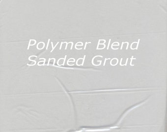 Sample Size Soft SILVER GRAY 1/2 Pound Mosaic Tile Sanded Grout Polymer Fortified Interior Exterior Just Add Water